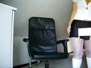 Deutsch Mädchen mit schönen Körper ist nackt vor der Kamera
